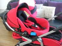 Silver Cross 3D pram pushchair with car seat changing bag and sun brolly