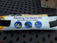 Awning Tie Down Kit (With Reflective Bands for Caravan, Motorhome, Campervan, Tent