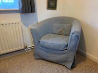 Bucket chair / light grey