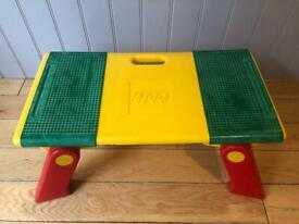 Lego branded table with storage