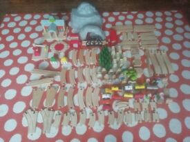 Huge collection of track, including wooden mountain railway