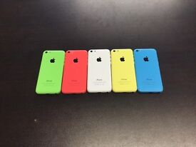 IPhone 5c 8gb o2 giffgaff Tesco £95 or unlocked 8gb £105 with warranty and accessories