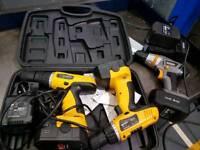 Titan Drill 14.4V and 2 Einhell Drill 18V