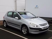 2002 PEUGEOT 307 1,6 PETROL 118K WITH HISTORY.LONG TAX AND MOT GREAT RUNNER ALLOY WHEELS PX WELCOME
