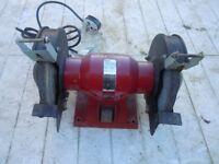 Black bench grinder