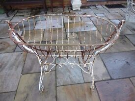 Antique French Baby's Rocking Bassinette Cot