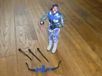 Good used condition Action man Kung Fu/Ninjutsu extreme and Red Wolf Action man with firing bow