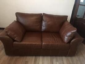 Next two seater leather sofa