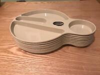 8 x plastic camping plates