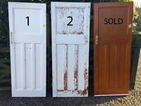 ***1930s SOLID WOOD DOORS - MIXED SIZES***