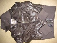 Leather look brown jacket