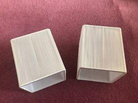 Matching pair of cream lampshades
