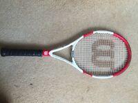 Wilson Six.One 95L 18x20 Tennis Racket. Grip 1. New Restring