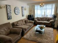 DFS SOFA SET WITH SOFA BED + RECLINING CHAIR & STORAGE UNIT