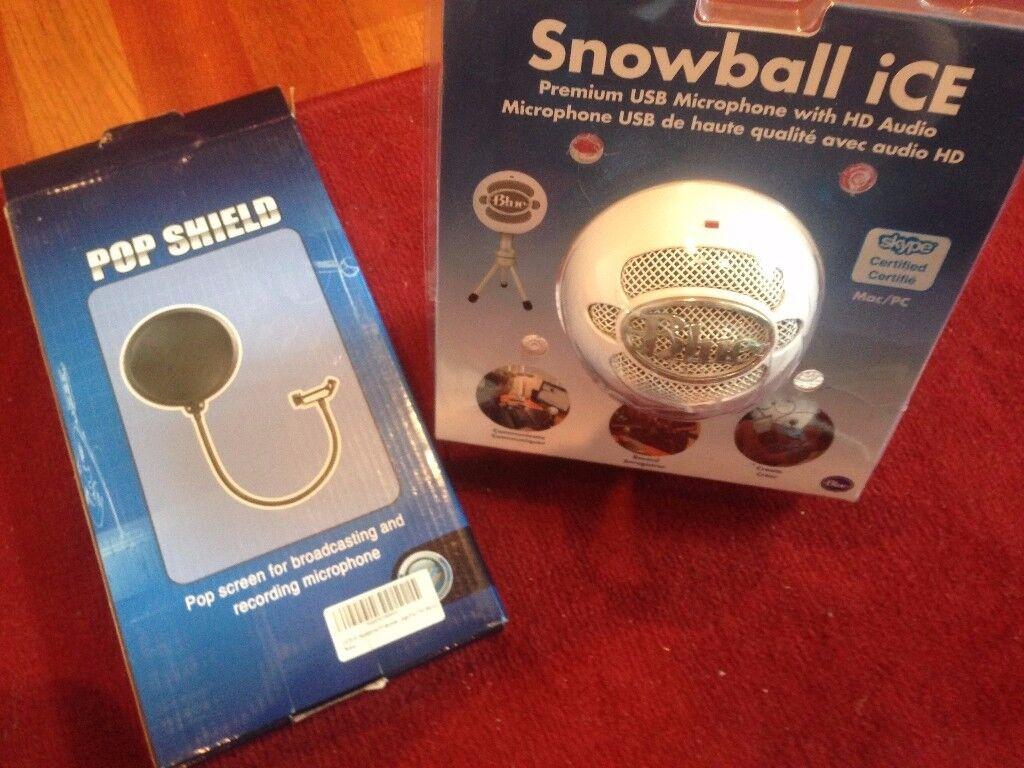 Snowball Microphone + Pop Filter