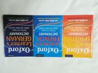 Oxford Learners Spanish, French and German Dictionarys