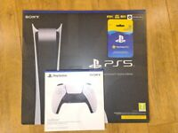 PLAYSTATION 5 DIGITAL BUNDLE (EXTRA CONTROLLER + PS PLUS) AND DISC EDITION - HOUNSLOW TW3 LONDON