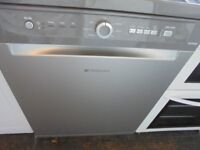 Hotpoint full size dishwasher silver warranty n free delivery
