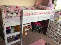 Cabin bed, kaycie mid sleeper shorty bed frame