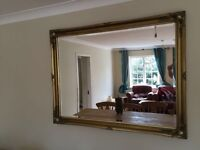 Lovely mirror with gold framing