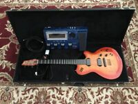 Roland GR55 guitar synth with Godin LGX Guitar