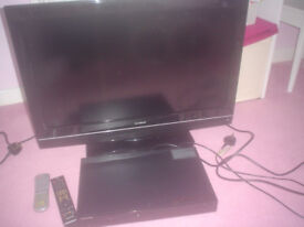 32 goodmans led tv and samsung blue ray dvd player