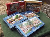 5 COMPLETE - BOXED - JIGSAW PUZZLES - L@@K