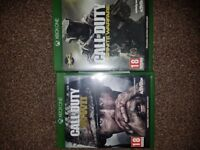 Call of Duty WWII and Infinite Warfare Xbox One