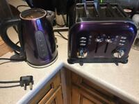 Purple Toaster and Kettle