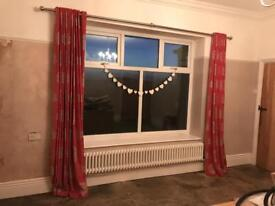 Curtains & matching blind