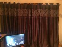 Large purple blackout curtains
