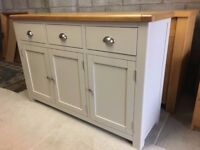 Heart of House Kent Large Sideboard - Soft Light Grey As New .