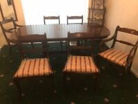 Modern Dining Room Mahogany Table chairs
