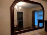 For Sale Large Mahogany Mirror