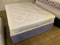 DOUBLE BED DIVAN & MATTRESS EXCELLENT CONDITION FREE DELIVERY MCR