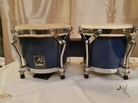 Tuneable blue Performance Percussion Bongos