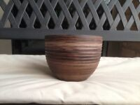 Small Plant Pot (Terracota Bamboo Effect)