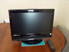E-Motion 21.6 inch HD TV with DVD- Rarely Used - VGC