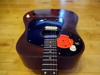 """""""Vintage Custom Dog, Kay Acoustic Guitar with Fender Replacement Hardware""""Bargain!"""