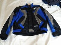 TEXTILE MOTORCYCLE JACKET SIZE 32""