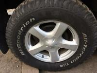 For sale 4 Isuzu D max tyres and wheels