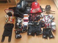 Full junior Ice Hockey starter kit (age 6-7)