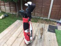 Golf Clubs and Wilson Bag - £35