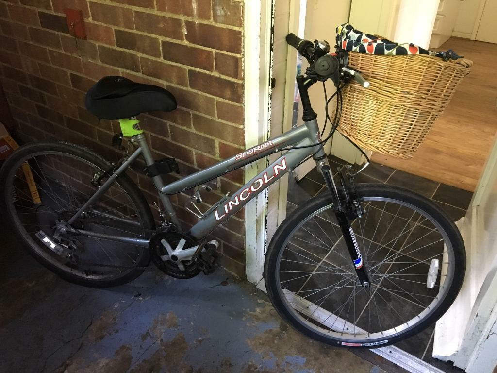 """Bicycle Lincoln Storm17"""" Framein Guildford, SurreyGumtree - Selling this great second hand Lincoln Storm Bicycle. Only purchased 7 months ago from a bicycle store.It is a 17"""" frame, 26"""" wheels and 28"""" standover height.Also comes with an Orla Kiely Wicker Basket, bell, LED front and rear bicycle lights and..."""
