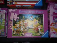Children'Jigsaw puzzles and dominos for children recommended for 4+ children - VERY GOOD condition