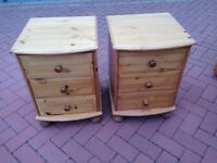 Bedside drawers - matches bed for sale