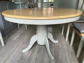 Epsom Grey and Oak Round Dining Table