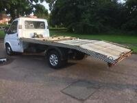 Ford transit dI 190 flatbed recovery truck