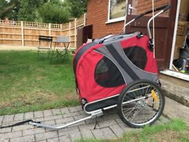 Doggyhut Large Pet Dog Bicycle Trailer & Jogger Stroller in Red