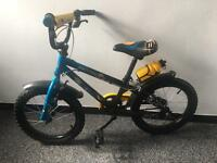 Kids bike blue& yellow 16""